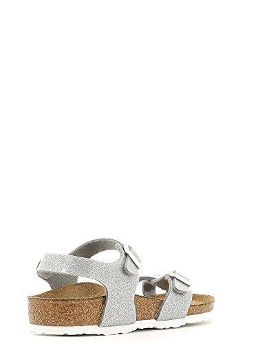 Birkenstock Taormina, Sandali con Cinturino alla Caviglia Bambina Grigio