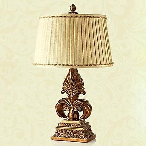 Piteng™ stile europeo lampada da tavolo d'epoca in mano trasformazione incisione (grande)