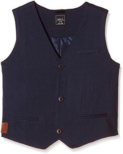 NAME IT Jungen Anzugjacke NITPOKTAV K JERSEY WAISTCOAT 615, Einfarbig, Gr. 134 (Herstellergröße: 134-140), Blau (Dress Blues)