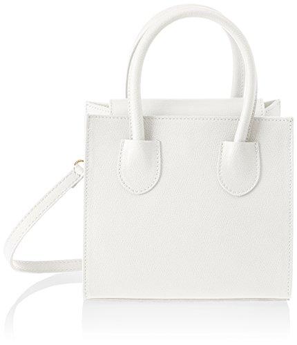 Chicca Borse Damen 1517 Henkeltasche, 20x19x10 Cm Bianco (white)