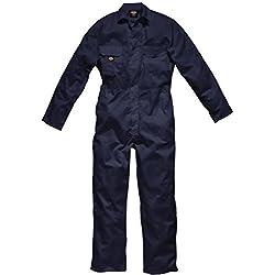 Dickies Combinaison de Travail Nombreuses Poches de Rangement avec Rabat et Taille Elastiquée - WD4819 - Bleu Marine, S - Tour de Poitrine 91-96cm