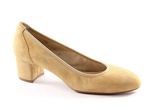 MELLUSO K75515 hojaldre scarpe donna decolletè camoscio pelle Sabbia