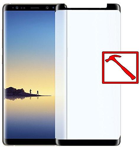 Slabo Premium Panzerglasfolie für Samsung Galaxy Note 8 Full Cover Echtglas Bildschirmschutzfolie Schutzfolie Folie Case Friendly Tempered Glass KLAR - 9H Hartglas - Rahmen Schwarz