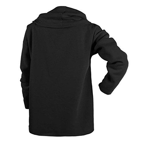 Chouette Sweats à Capuche Femme Col Haut Manches Longues Casual Style Automne/Hiver Noir