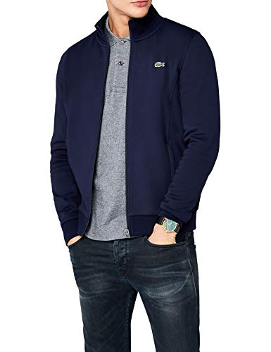 Lacoste Sport SH7616, Sweat-Shirt Homme, Bleu (Marine), Large (Taille Fabricant : 5)