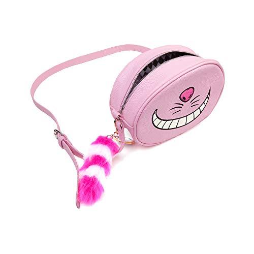 DISNEY Disney Alice In Wonderland Cheshire Cat Shaped Shoulder Bag with Shoulder Strap Kosmetiktäschchen 23 Centimeters Pink