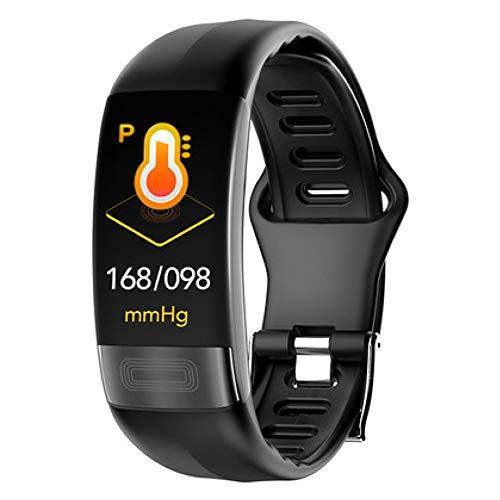 FWwD Smart Watch, EKG + HRV EKG-Überwachung Bluetooth-Uhr Blutdruckmessgerät Sportuhr Gesundheitsüberwachung Schritt IP67 wasserdicht USB-Lade-Unisex-SMS reminde