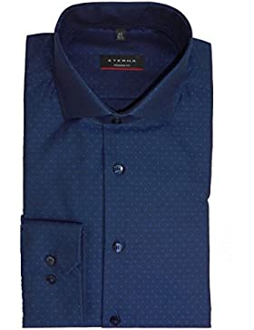 eterna Hemd Modern Fit blau gemustert - 8157/14 X17V