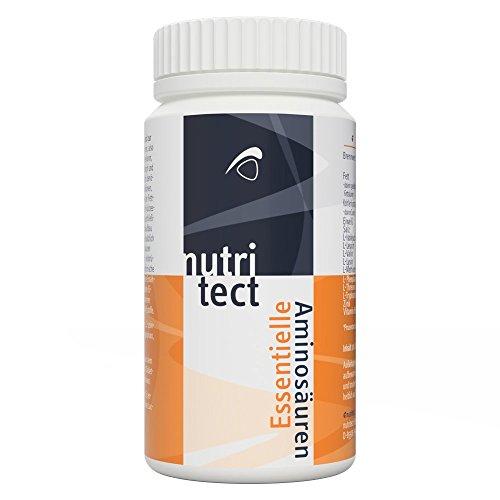 nutritect EssentielleAminosäuren - Mit Zink und Vitamin B6 | Ohne Zusätze oder Hilfsmittel | Vegan | 100 Tabletten | Hergestellt in Bayern -