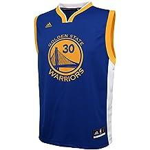 NBA GOLDEN STATE WARRIORS Curry S # 30Niños 8–20réplica Road Jersey, Infantil, azul