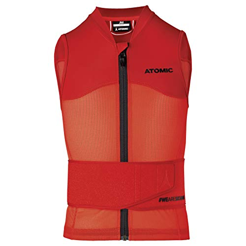 ATOMIC Kinder Live Shield Vest Jr Ski-Protektor-Weste, red, L