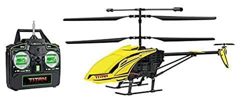 World Tech Toys Titan 3.5CH Gyro RC Helicopter, Red/Yellow/Green/Orange, 15.5 x 2.75 x 7.75