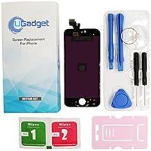 """UGadget nuevo negro pantalla LCD de repuesto de la Asamblea digitalizador de pantalla t¡§?ctil con kit de herramientas para iPhone 5 (4"""") ??"""
