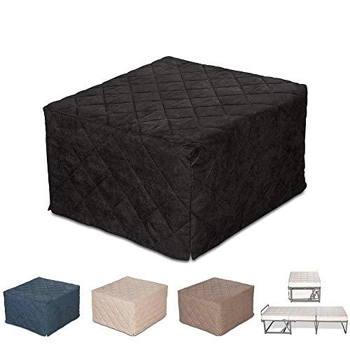 EvergreenWeb - Puf Cuadrado colchón Plegable Cama Individual para Invitados, 9 cm...
