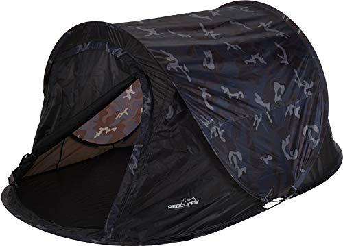 made2trade Campingzelt - Pop-Up Zelt für bis zu 2 Personen - Camouflage Design - Schwarz