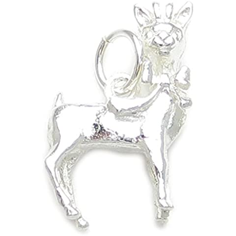 Lindo de ciervos del bebé/cervatillo/BAMBI encanto - 925 plata esterlina de estilo - Thomas Sabo BU0260