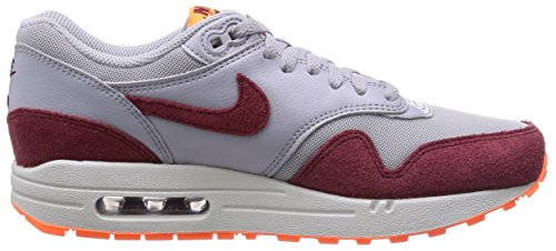 Nike Wmns Air Max 1 Essential, Chaussures de Course Homme multicolore (Wlf Gry/Tm Rd-Ttl Orng-Smmt Wh)