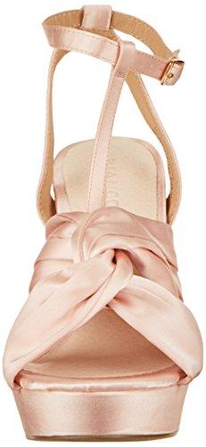 Bianco Damen Satin Strap Sandal Offene Beige (Powder)