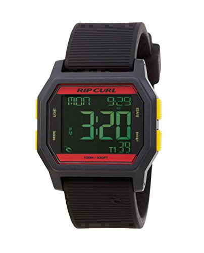2016 Rip Curl Atom Digital Watch With Silicone Strap RASTA A2701