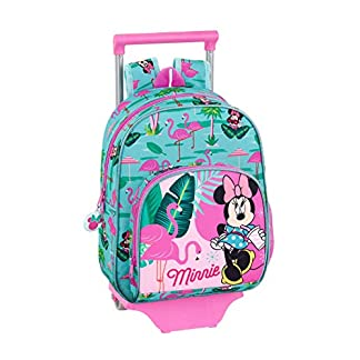 """41X9y1fQmlL. SS324  - Minnie Mouse """"Palms"""" Oficial Mochila Infantil Con Carro Safta 705"""