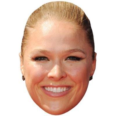 Celebrity Cutouts Ronda Rousey Maske aus Karton