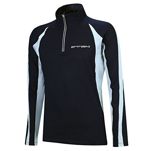 AIRTRACKS FUNKTIONS WINTER LAUFSHIRT PRO / THERMO FUNKTIONSSHIRT / FLEECE RUNNING T-SHIRT / REFLEKTOREN / LANGARM - schwarz - XL