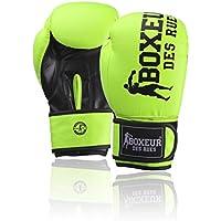 Boxeur Des Rues Serie Fight Activewear, Guantoni da Boxe Unisex-Adulto, Giallo, 10 OZ