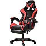 Computer Stuhl Home Spiel Stuhl WCG Gaming Stuhl Büro kann Stuhl Internet Cafés wettbewerbsfähige Rennstuhl (kann sich hinlegen, Höhe kann eingestellt werden) ( Color : Red , Size : 66cm*66cm*130cm )