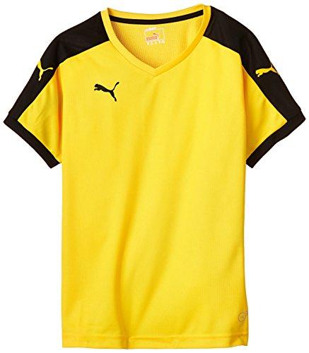 Puma Unisex-Kinder T-Shirt Pitch, gelb (Team Yellow/Black), Gr. 7-8 Jahre (Herstellergröße: 128)