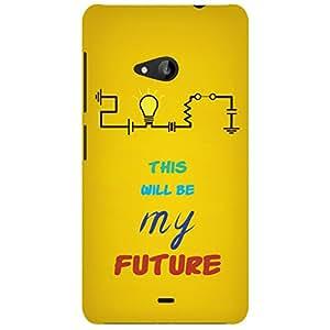 URBAN KOLOURS Original Designer Printed Hard Case Back Cover for Microsoft Lumia 535 (Future Bulb)