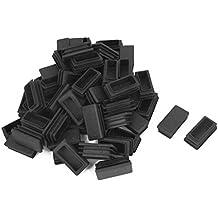 4 tapones negro para tubos cuadrados dimensiones exteriores 70x20mm