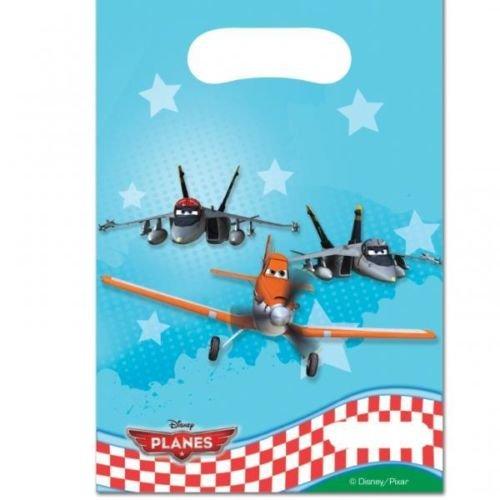 Disney Kunststoffbeutel für Geburtstags-Party, Motiv Planes, 6 Stück Dipper Ice