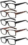 Eyekepper lesen Brille 5 Paare Qualität Leser Frühling Scharnier Brille zum Lesen zum Männer und Frauen +0.50