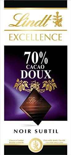 Lindt Excellence Tableta de Chocolate Negro 70% Cacao Suave - 5 Tabletas de 100 gr - Total: 500 gr
