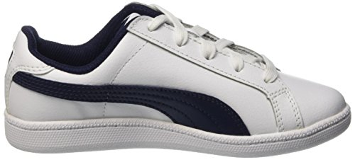 Puma Smash Fun L, Baskets Basses Garçon Blanc (White/Peacoat)