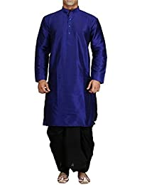 Royal Men's Silk Blend Dhoti Kurta Set