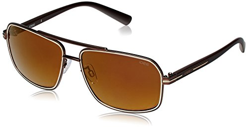 IDEE Aviator Sunglasses (IDS1908C5SG|60|Gold and Brown ) image