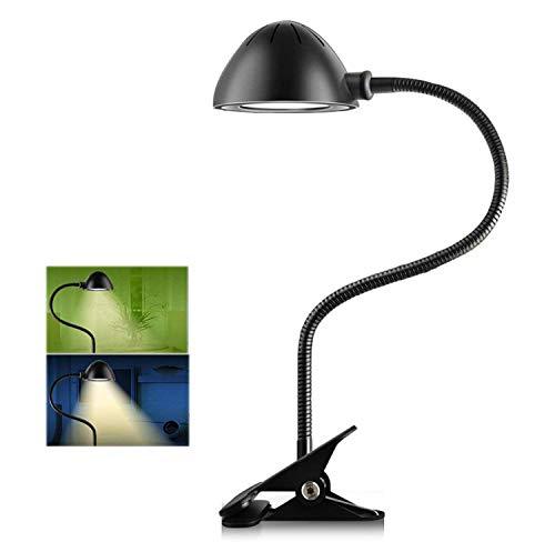 Eplze LED Bureau Lampe Dimmable Agrafe Sur Livre En train de lire Lumière - Noir