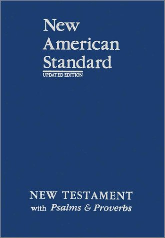 New American Standard New Testament With Psalms And Proverbs Blue Imitation Leather