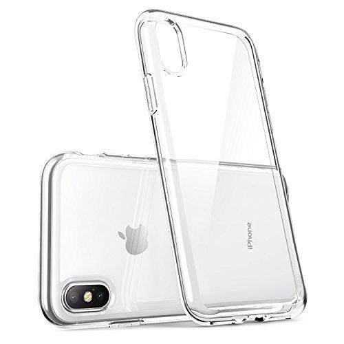 Handyhülle für iPhone X,FayTun iPhone X Hülle-Kabelloses Laden (Qi) Kompatibel-Ultra Dünn Case-Anti-Fingerabdruck,Scratch,Staub-Premium FederLeicht Silikon Schutzhülle für iPhone X-Transparent