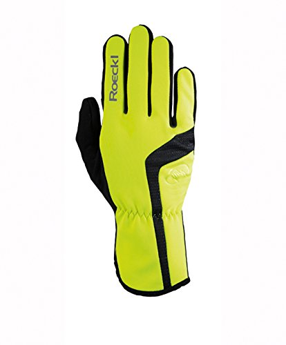 Roeckl Reinbek Winter Fahrrad Handschuhe lang neon gelb: Größe: 7.5