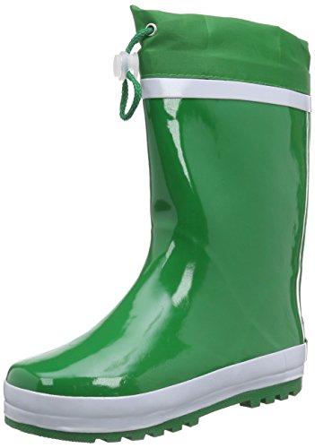 Playshoes Kinder Gummistiefel aus Naturkautschuk, warme Unisex Regenstiefel mit Innenfutter, Grün (grün 29), 28/29 EU