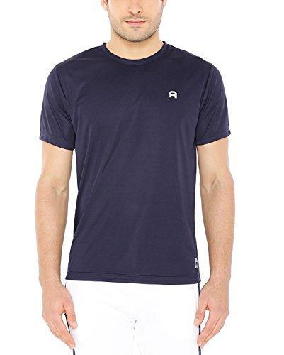 Aerosport Men's Drifit Round Neck T Shirt (Aero_Round001_Navy_M)