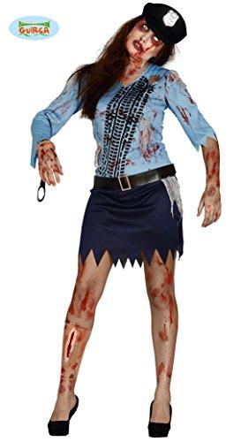 Zombie Polizistin Kostüm für Damen Gr. M-L, Größe:L (Polizistin Halloween)