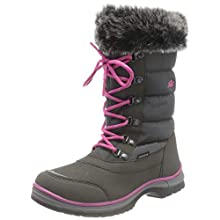 Lico Girls' Olivia Snow Boot, Grey-Pink, 1.5 UK