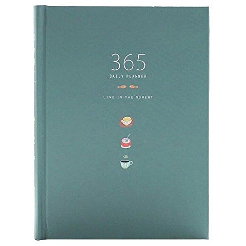 Nette 365 Tage Planer Nachfüllungen Täglich Wöchentlich Monatliche Kalender Zeitplan Notizbuch Tagebuch Gebunden To-Do-Liste Buch Agenda Organizer Schule Schreibwaren (Tiefes Blau)