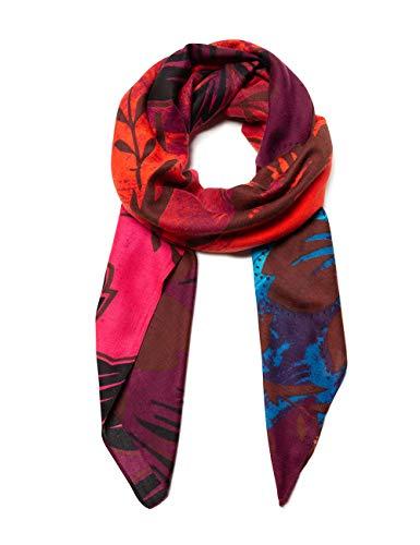 Desigual Damen Foulard SINERGIA Schal, Rot (Rojo Loft 3088), One Size (Herstellergröße: U)