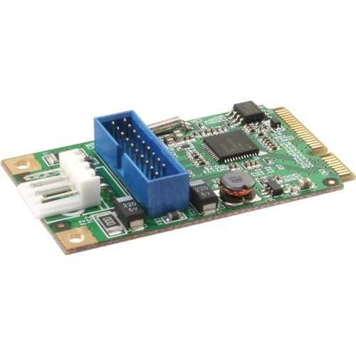 InLine 14058 Scheda PCIe Mini 2 con 2 Porte USB 3 Host Controller Super-Speed 5 Gbit per Embedded-PC e Micro-PC, Nero