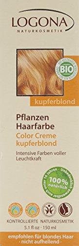 LOGONA Naturkosmetik Coloration Pflanzenhaarfarbe, Color Creme - 200 Kupferblond - Blond, Natürliche & pflegende Haarfärbung (150g) - 3