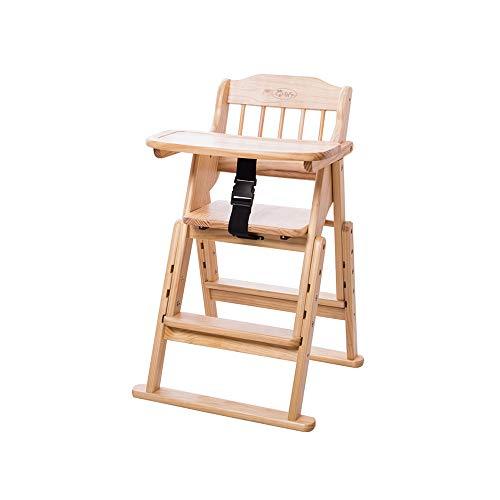 YQQ Chaise De Peinture Chaise Bébé Table De Bébé Chaise Multifonction pour Enfants Siège Enfant en Bois Massif Chaise Pliante Ceinture De Sécurité